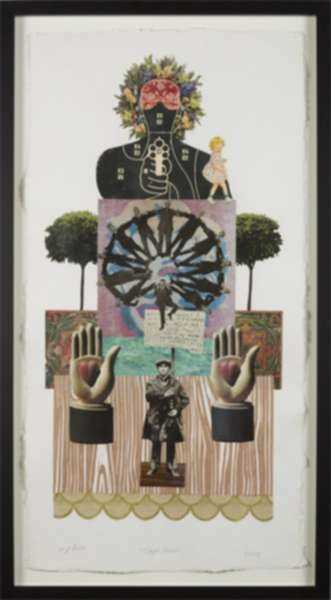 Collage by W. Perry Barton: Staged Protest, represented by Childs Gallery