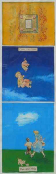 Collage by W. Perry Barton: The Baby Sally Ascending into Heaven, represented by Childs Gallery
