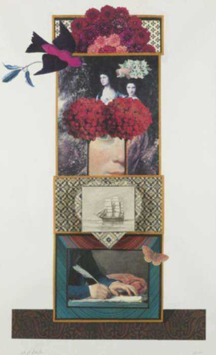 Collage by W. Perry Barton: The Romantic Era, represented by Childs Gallery