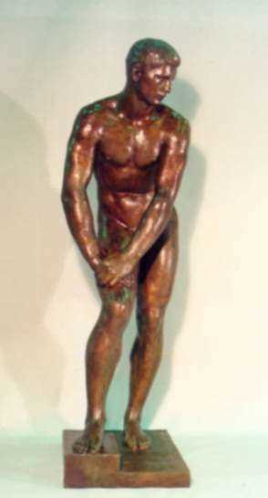 Sculpture by Walker Kirtland Hancock: The Diver, represented by Childs Gallery