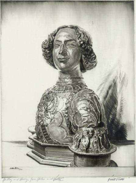 Print by Walter Tittle: Guiliano de Medici, after Verrocchio, represented by Childs Gallery