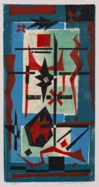 Print by Werner Drewes: Acrobatics Angular, represented by Childs Gallery