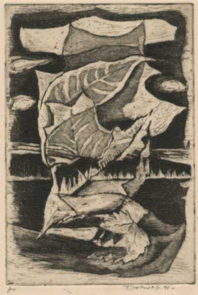 Print by Werner Drewes: Autumn Leaves, represented by Childs Gallery
