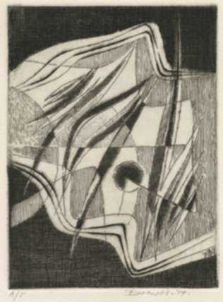 Print by Werner Drewes: Awakening, represented by Childs Gallery