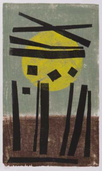 Print by Werner Drewes: Carnac, represented by Childs Gallery