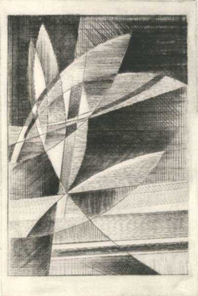 Print by Werner Drewes: Crescendo, represented by Childs Gallery