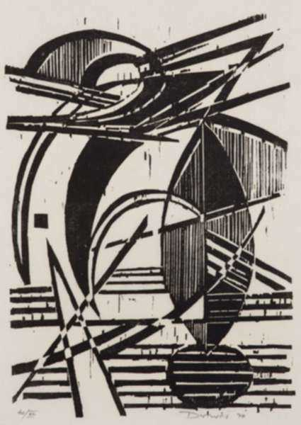 Print by Werner Drewes: Intrusion, represented by Childs Gallery