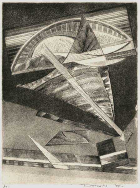Print by Werner Drewes: Swinging Motion (Schwingende Bewegung), represented by Childs Gallery