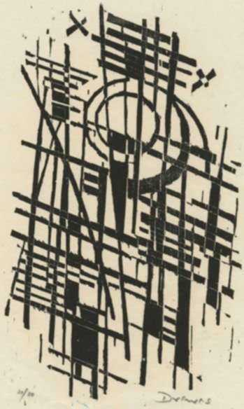 Print by Werner Drewes: Tree Pattern, represented by Childs Gallery