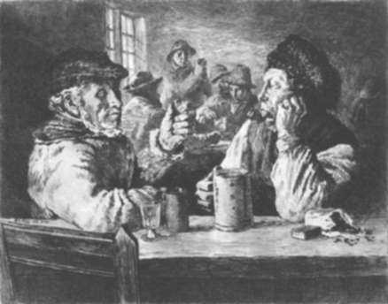 Print by Wilhelm Peters: Norwegian Fisherman in a Tavern, represented by Childs Gallery