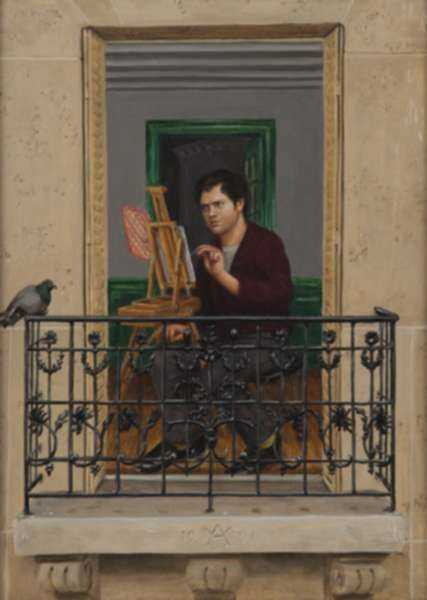 Painting by William Allik: Self-Portrait, represented by Childs Gallery