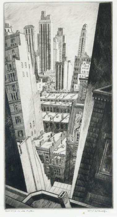 Print by William McNulty: In the Fifties, New York, represented by Childs Gallery