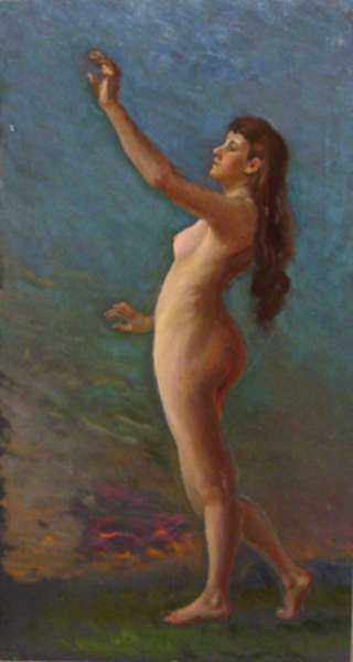 Painting by William Partridge Burpee: [Female Nude], represented by Childs Gallery