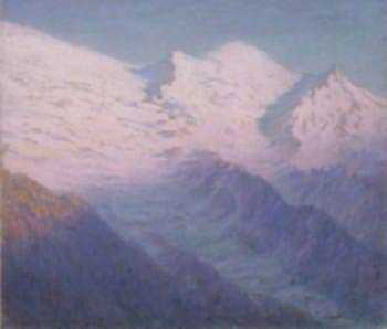 Pastel by William Partridge Burpee: [Snow-Covered Alps], represented by Childs Gallery