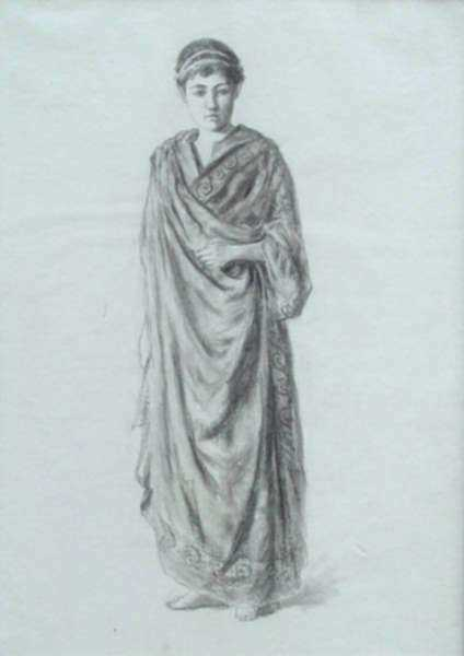 Drawing by William Partridge Burpee: Classical Study, represented by Childs Gallery