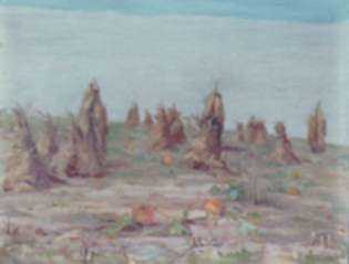 Painting by William Partridge Burpee: October Harvest, represented by Childs Gallery