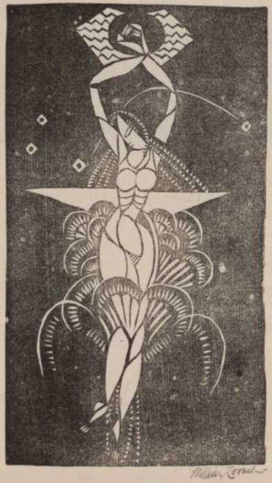 Print by William Zorach: Swimmer, represented by Childs Gallery