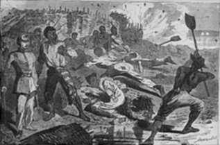 Print by Winslow Homer: A Shell in the Rebel Trenches, represented by Childs Gallery