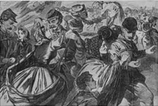 Print by Winslow Homer: Home from War, represented by Childs Gallery