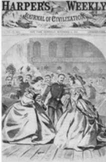 Print by Winslow Homer: The Russian Ball - In the Supper Room, represented by Childs Gallery